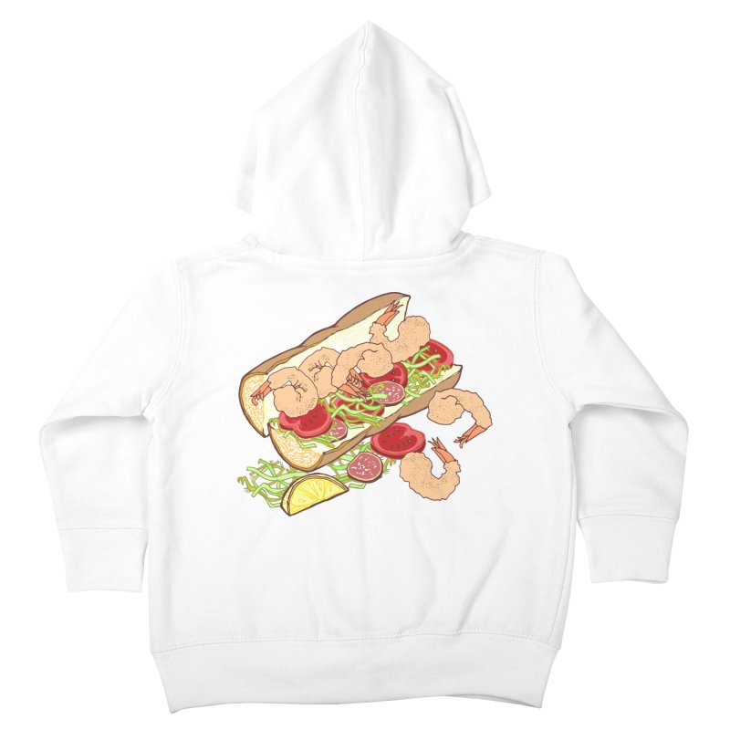 Shrimp Po-boy Kids Toddler Zip-Up Hoody by bad arithmetic