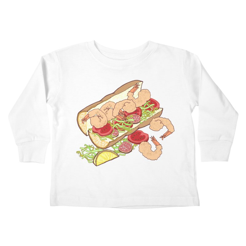 Shrimp Po-boy Kids Toddler Longsleeve T-Shirt by napiform clip art