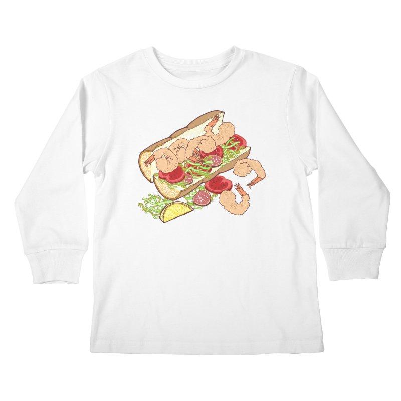 Shrimp Po-boy Kids Longsleeve T-Shirt by bad arithmetic