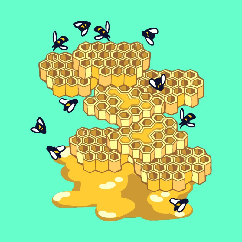 Bees and Honeycomb by napiform clip art