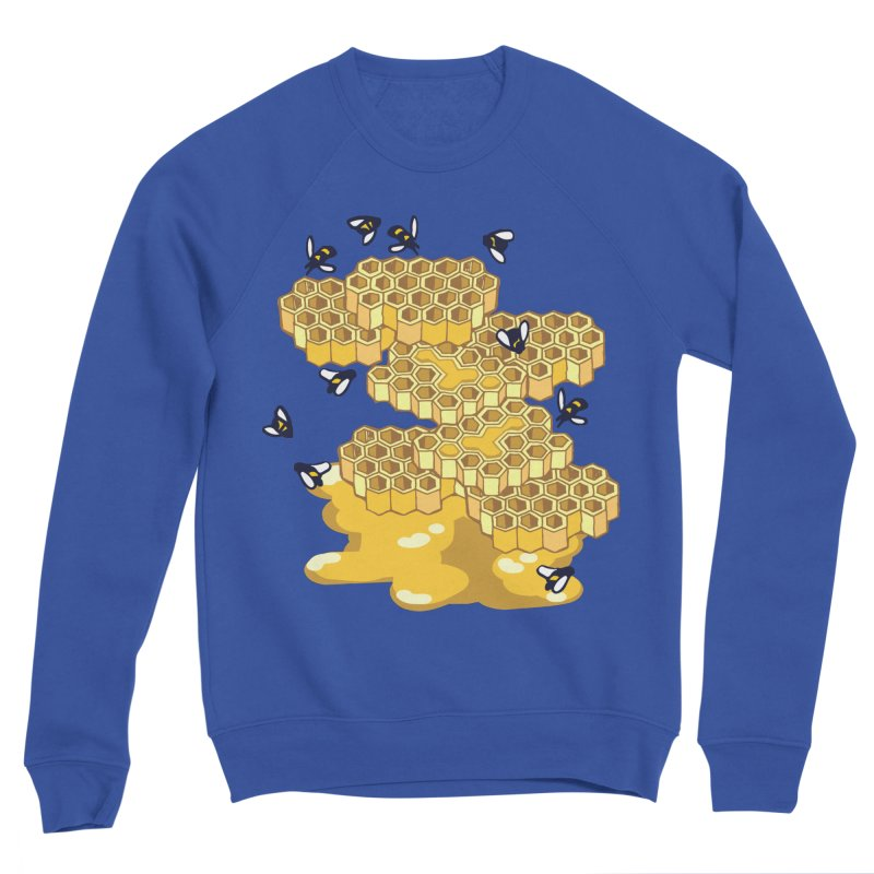 Bees and Honeycomb Women's Sponge Fleece Sweatshirt by bad arithmetic