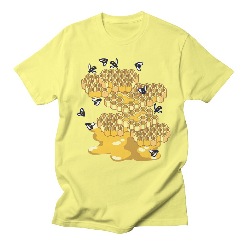 Bees and Honeycomb Men's T-Shirt by bad arithmetic