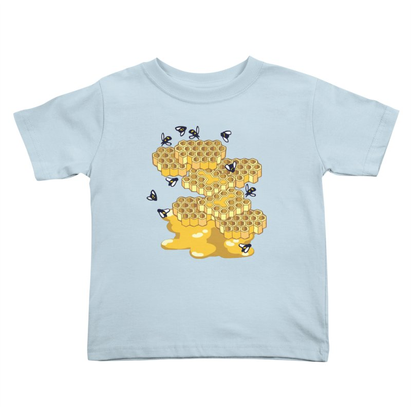 Bees and Honeycomb Kids Toddler T-Shirt by bad arithmetic