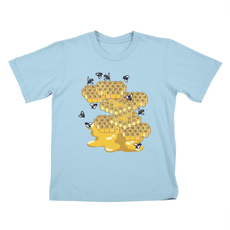 Bees and Honeycomb Kids T-Shirt by bad arithmetic