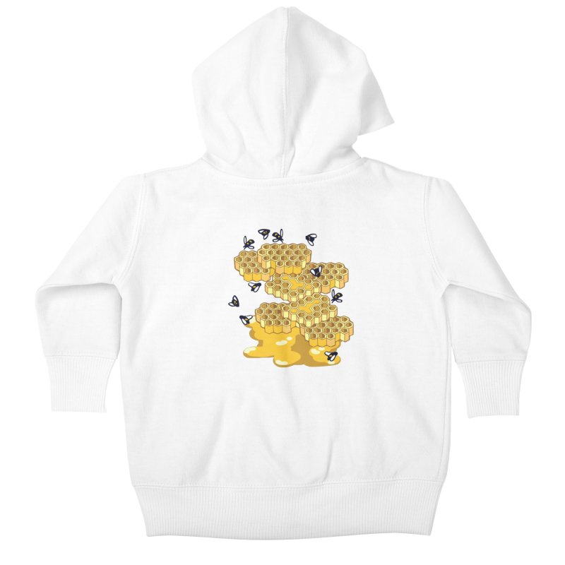 Bees and Honeycomb Kids Baby Zip-Up Hoody by napiform clip art