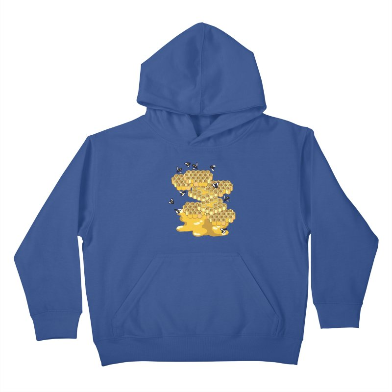 Bees and Honeycomb Kids Pullover Hoody by napiform clip art