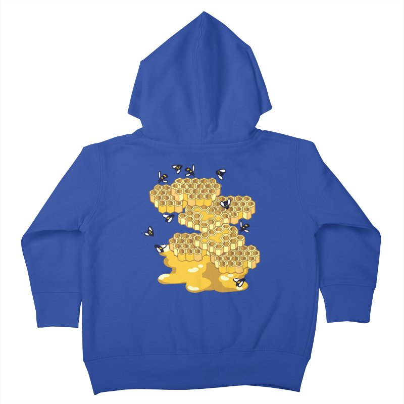 Bees and Honeycomb Kids Toddler Zip-Up Hoody by bad arithmetic