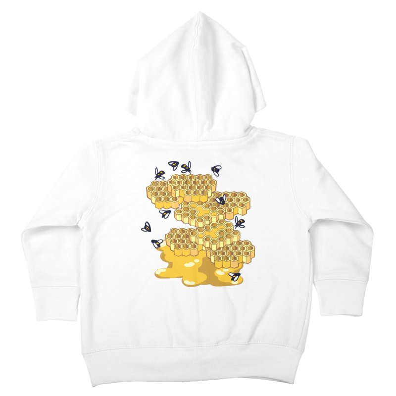 Bees and Honeycomb Kids Toddler Zip-Up Hoody by napiform clip art