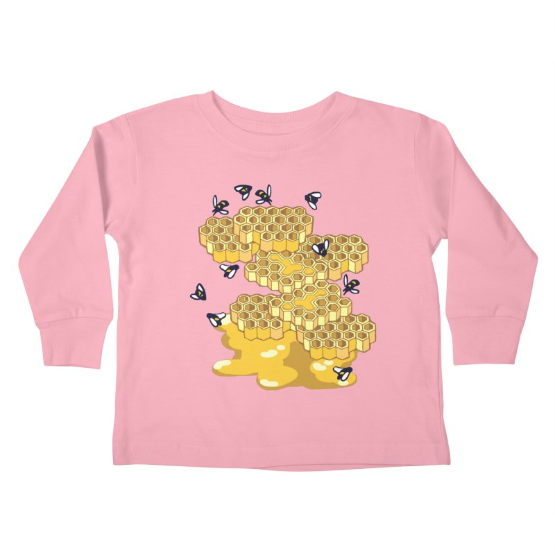 Bees and Honeycomb Kids Toddler Longsleeve T-Shirt by napiform clip art