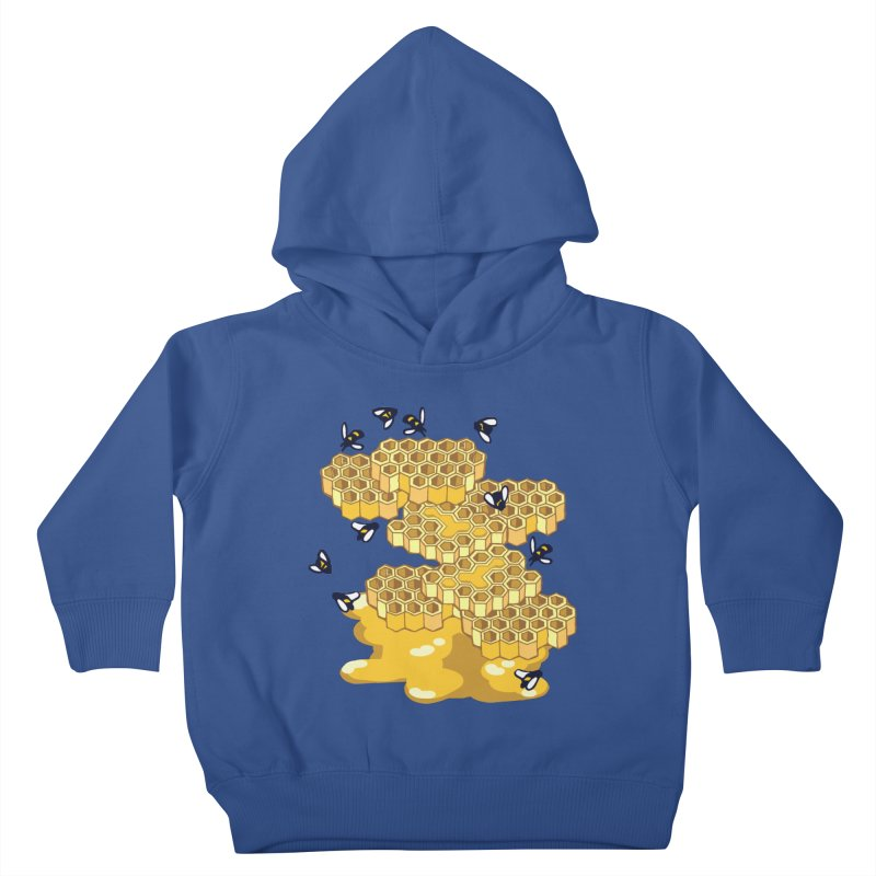 Bees and Honeycomb Kids Toddler Pullover Hoody by bad arithmetic