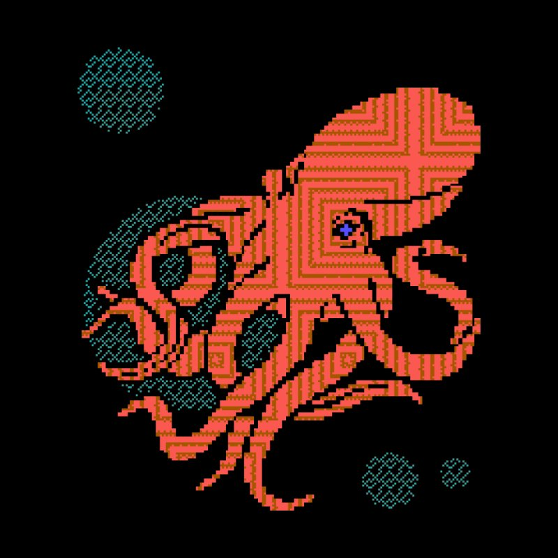 8 bit Octopus by napiform clip art