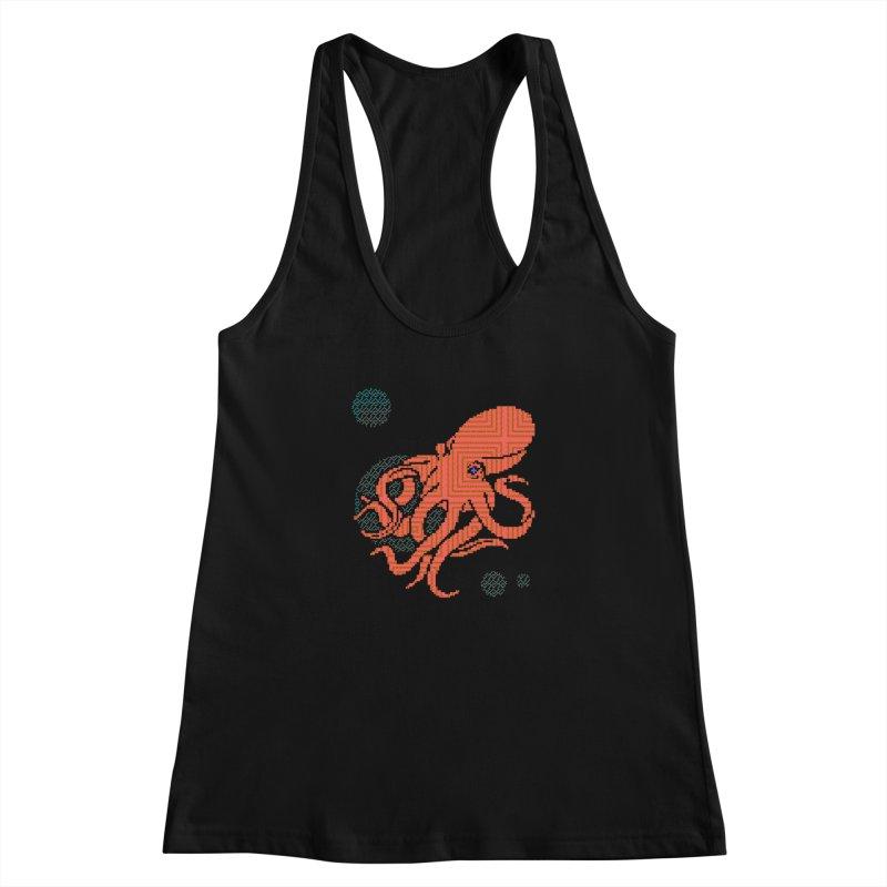 8 bit Octopus Women's Racerback Tank by napiform clip art
