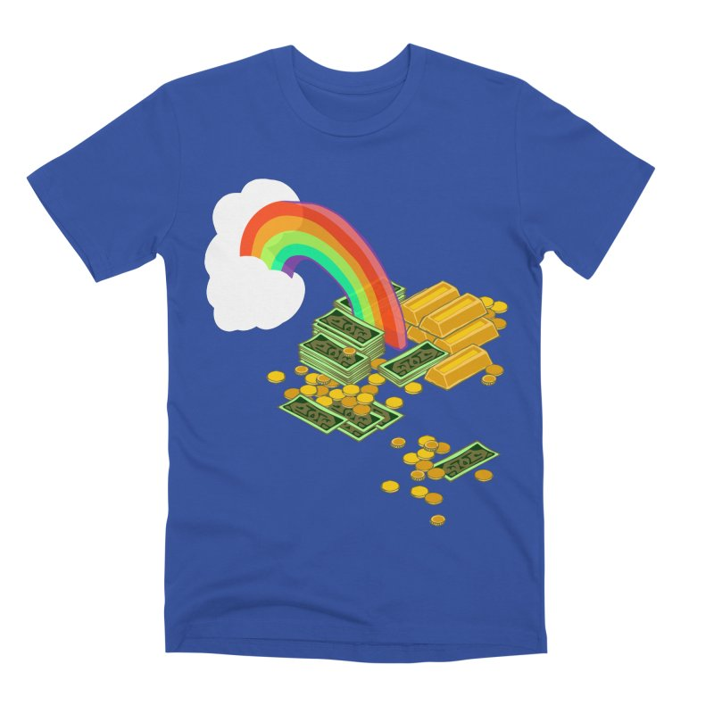Gold at the End of the Rainbow Men's Premium T-Shirt by bad arithmetic