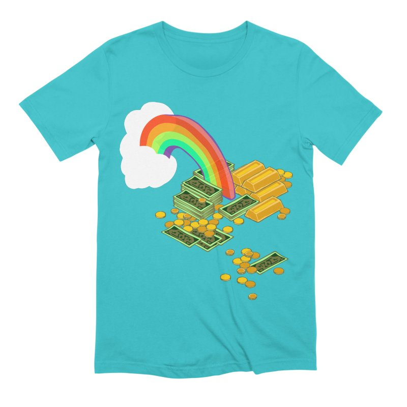 Gold at the End of the Rainbow Men's Extra Soft T-Shirt by bad arithmetic