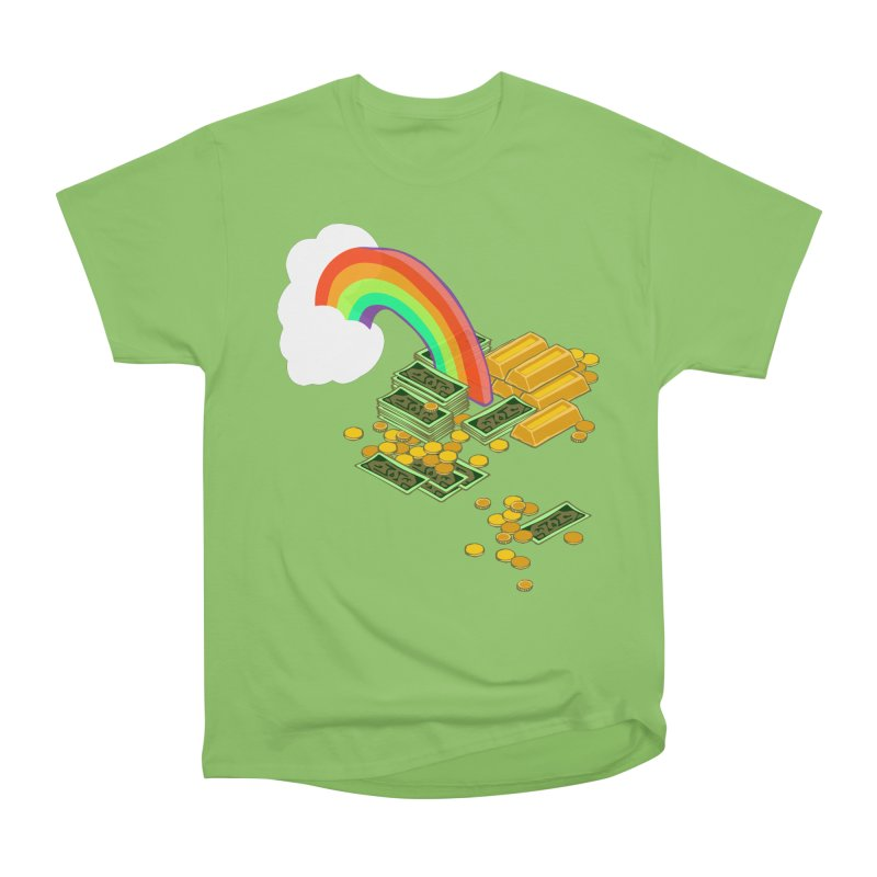 Gold at the End of the Rainbow Women's Heavyweight Unisex T-Shirt by napiform clip art