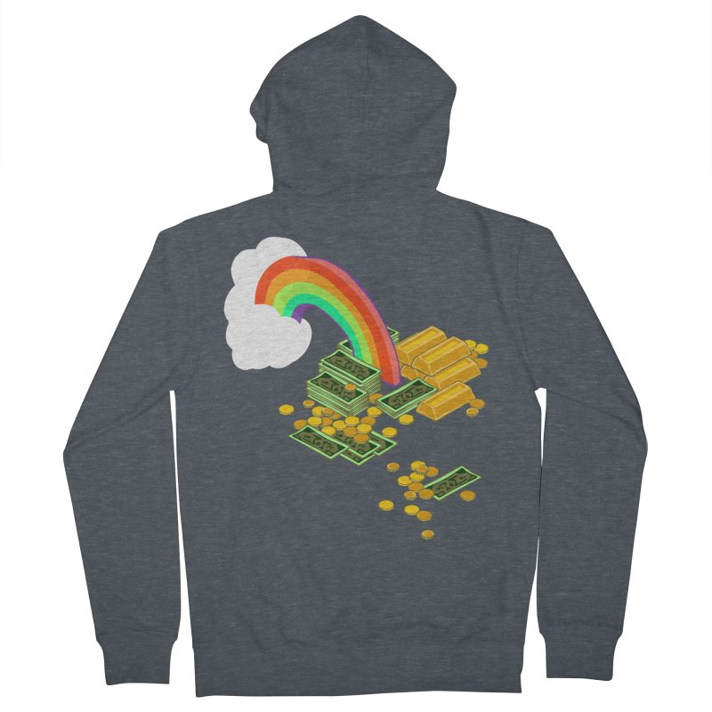 Gold at the End of the Rainbow Men's French Terry Zip-Up Hoody by napiform clip art