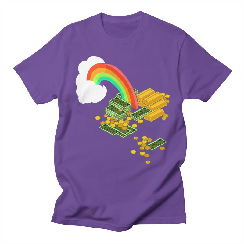 Gold at the End of the Rainbow Women's Regular Unisex T-Shirt by napiform clip art