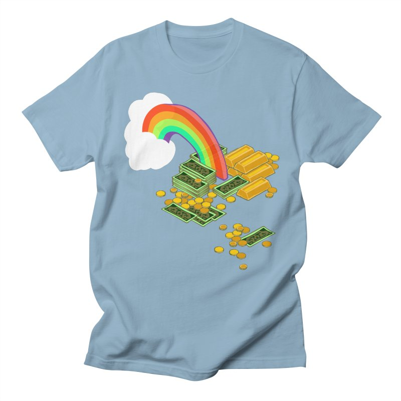 Gold at the End of the Rainbow Men's Regular T-Shirt by napiform clip art