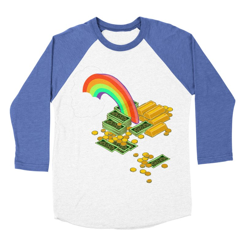 Gold at the End of the Rainbow Men's Baseball Triblend Longsleeve T-Shirt by napiform clip art