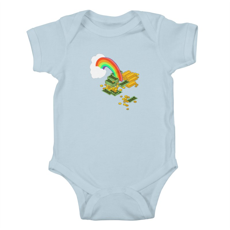 Gold at the End of the Rainbow Kids Baby Bodysuit by bad arithmetic