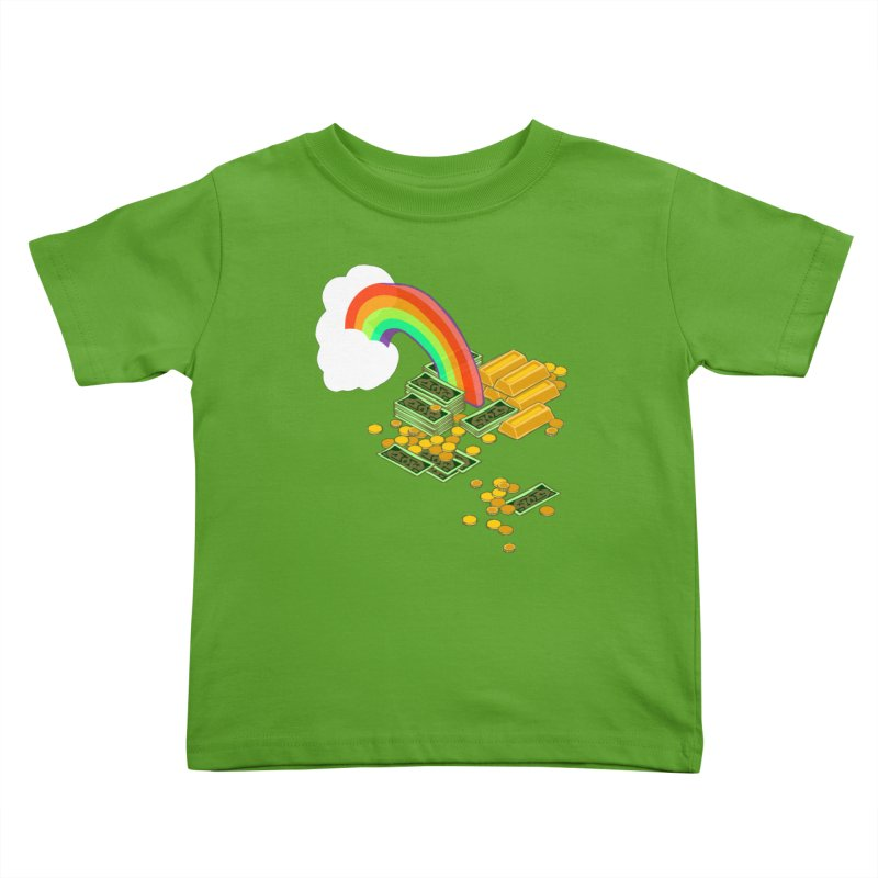 Gold at the End of the Rainbow Kids Toddler T-Shirt by bad arithmetic