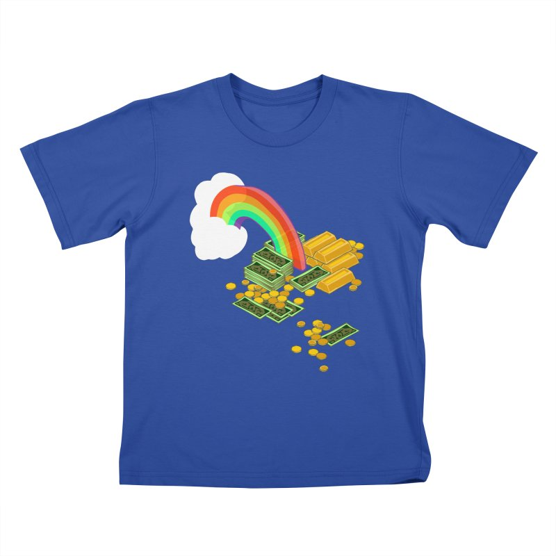 Gold at the End of the Rainbow Kids T-Shirt by bad arithmetic