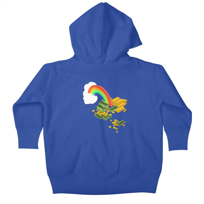 Gold at the End of the Rainbow Kids Baby Zip-Up Hoody by bad arithmetic