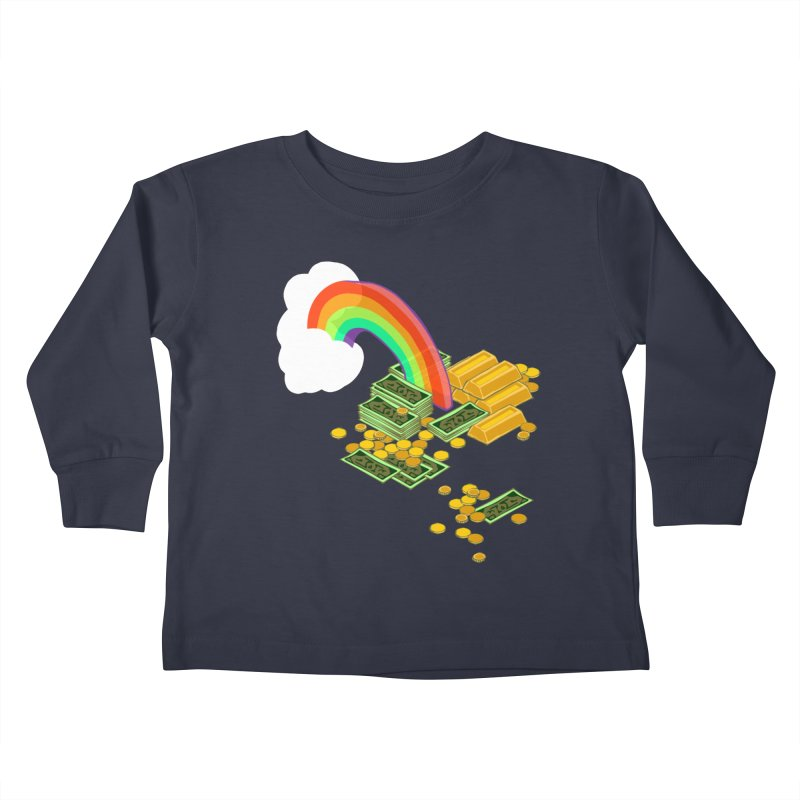 Gold at the End of the Rainbow Kids Toddler Longsleeve T-Shirt by napiform clip art