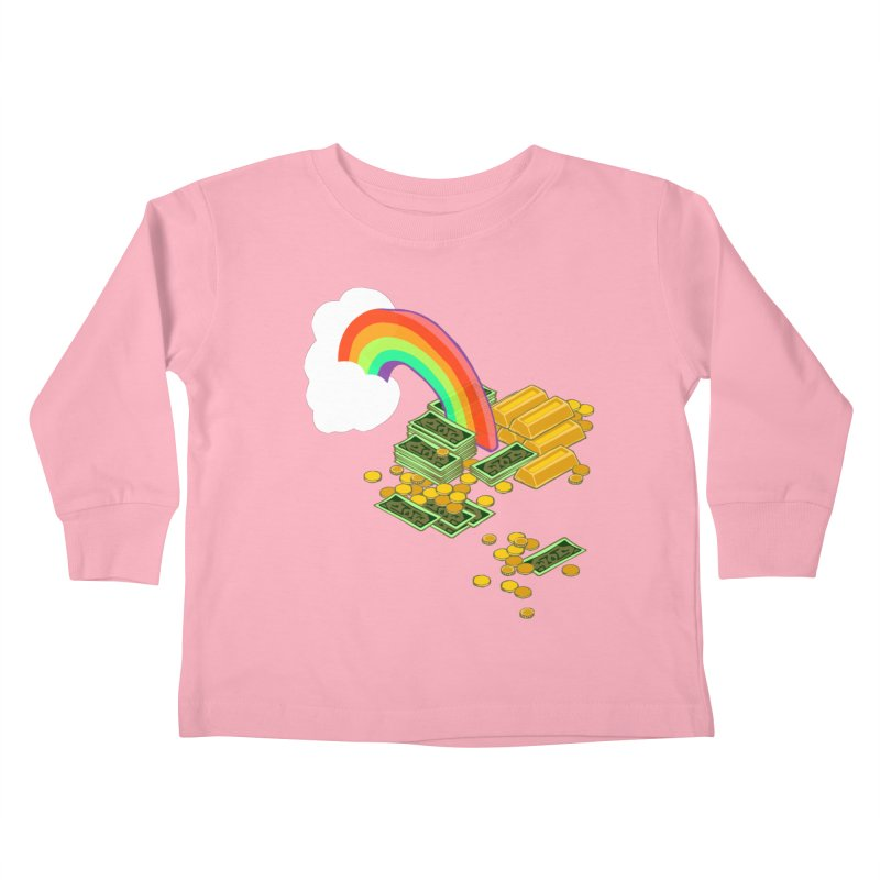 Gold at the End of the Rainbow Kids Toddler Longsleeve T-Shirt by bad arithmetic