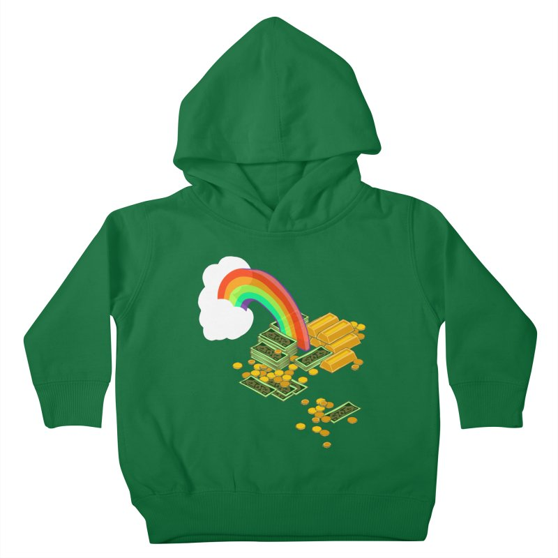 Gold at the End of the Rainbow Kids Toddler Pullover Hoody by bad arithmetic