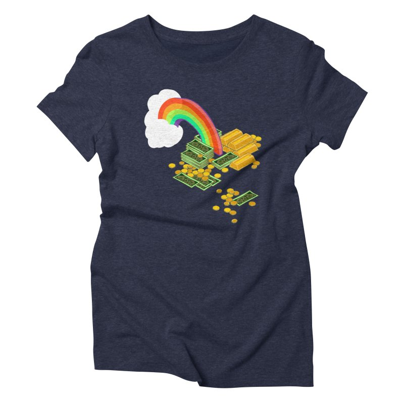 Gold at the End of the Rainbow Women's Triblend T-Shirt by napiform clip art