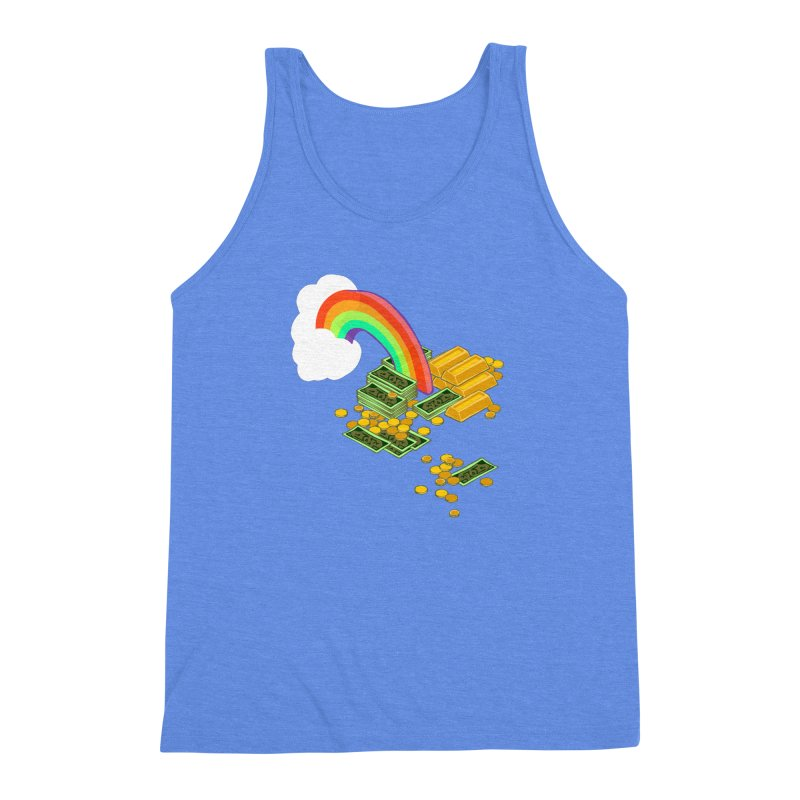 Gold at the End of the Rainbow Men's Triblend Tank by napiform clip art
