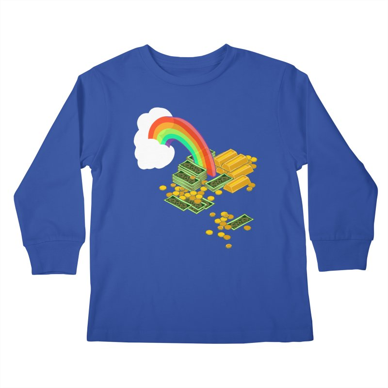Gold at the End of the Rainbow Kids Longsleeve T-Shirt by bad arithmetic