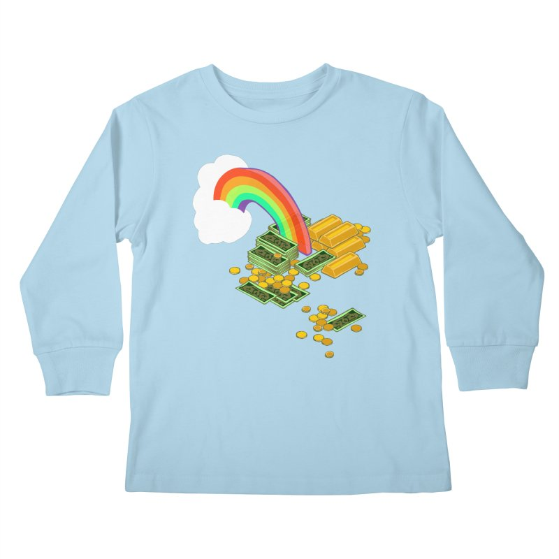 Gold at the End of the Rainbow Kids Longsleeve T-Shirt by napiform clip art