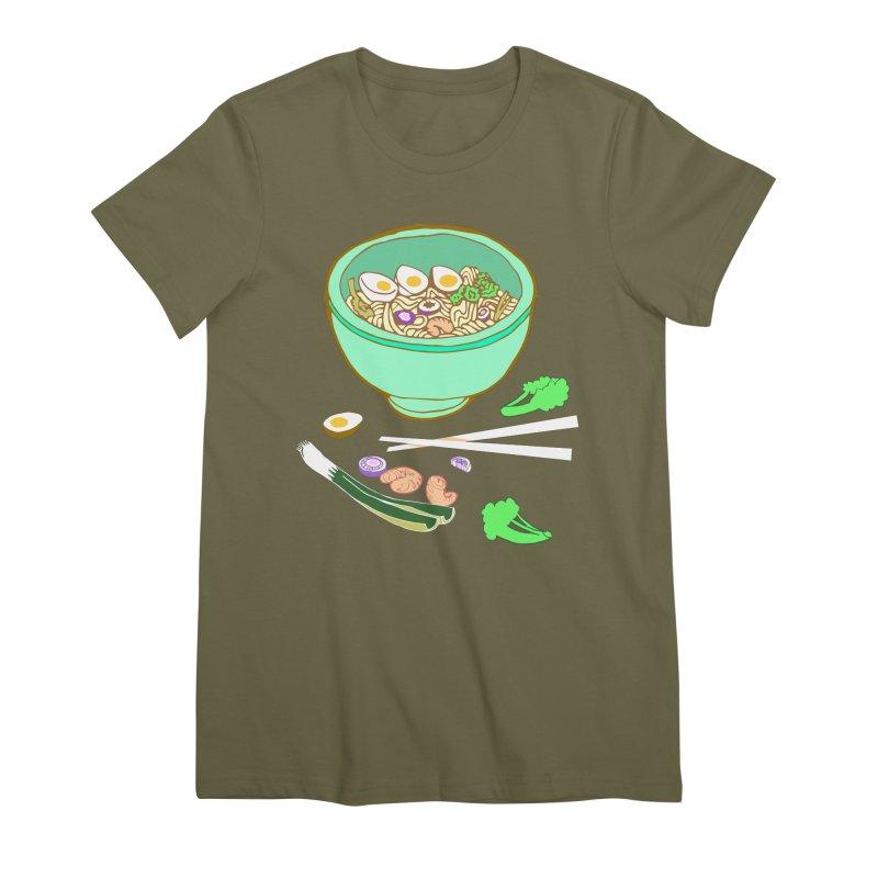 Bowl O' Noodle Women's Premium T-Shirt by bad arithmetic