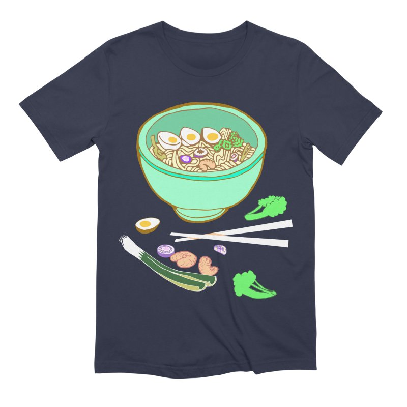 Bowl O' Noodle Men's Extra Soft T-Shirt by bad arithmetic