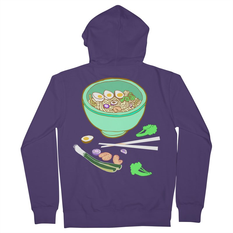 Bowl O' Noodle Women's French Terry Zip-Up Hoody by bad arithmetic
