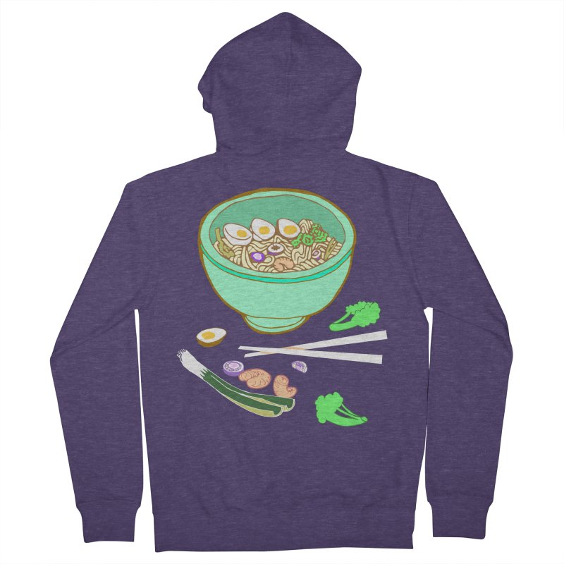Bowl O' Noodle Men's French Terry Zip-Up Hoody by napiform clip art