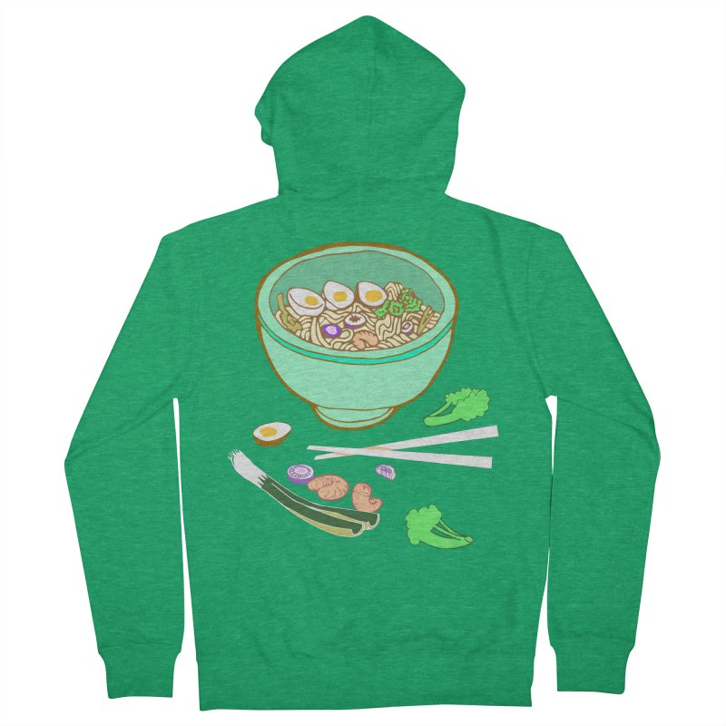Bowl O' Noodle Men's French Terry Zip-Up Hoody by bad arithmetic