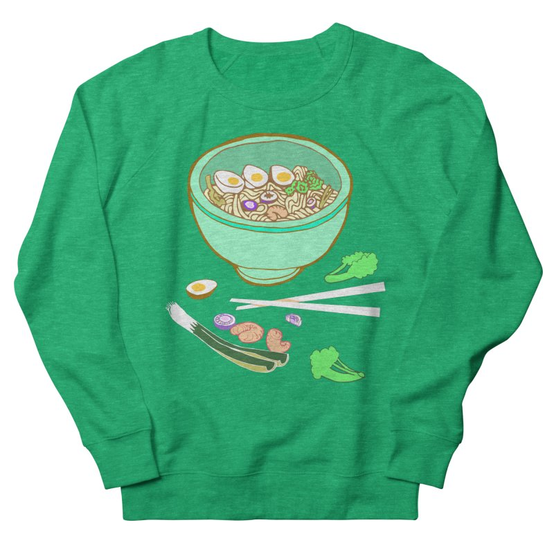 Bowl O' Noodle Women's French Terry Sweatshirt by bad arithmetic