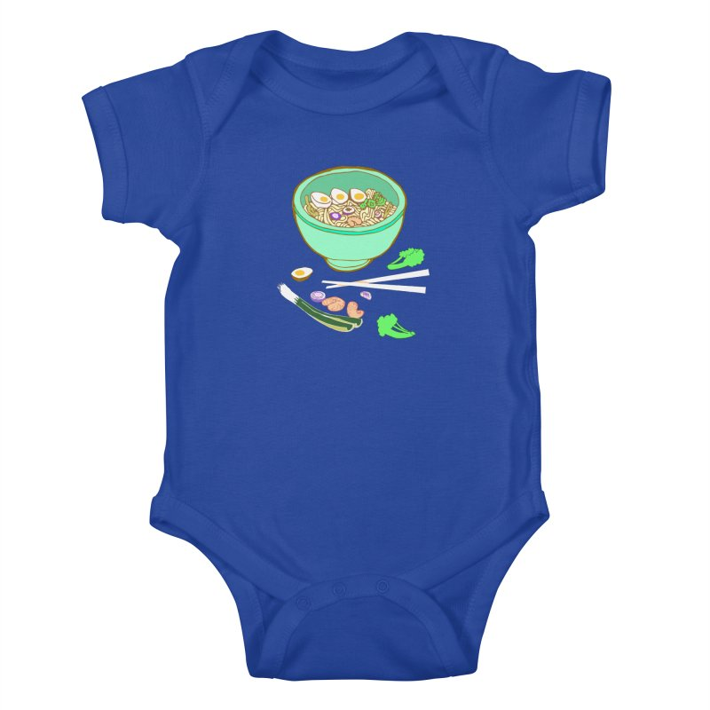 Bowl O' Noodle Kids Baby Bodysuit by bad arithmetic