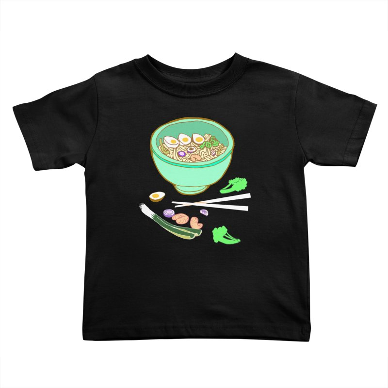 Bowl O' Noodle Kids Toddler T-Shirt by bad arithmetic