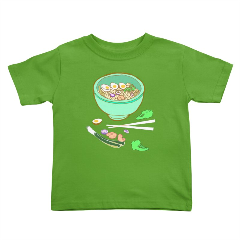 Bowl O' Noodle Kids Toddler T-Shirt by napiform clip art