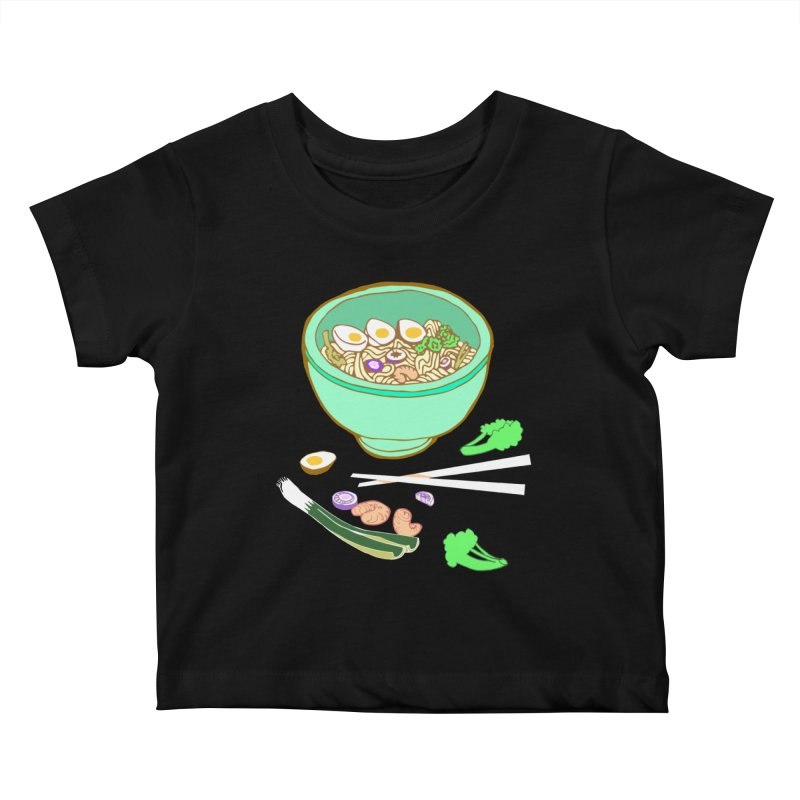 Bowl O' Noodle Kids Baby T-Shirt by napiform clip art