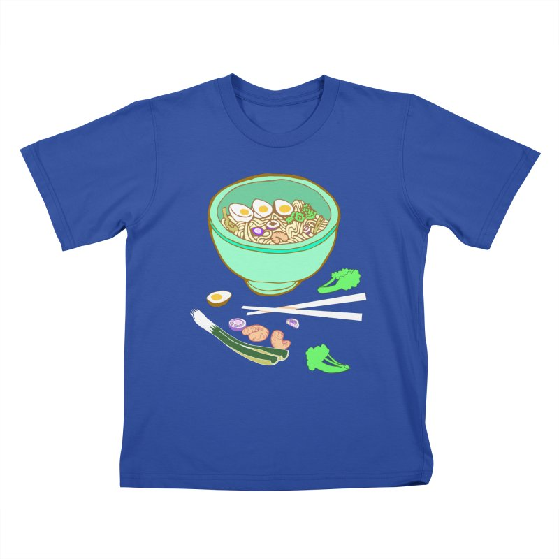 Bowl O' Noodle Kids T-Shirt by bad arithmetic