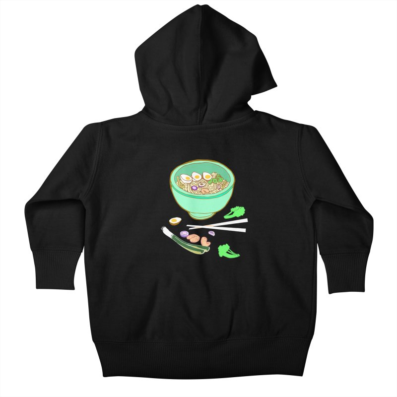 Bowl O' Noodle Kids Baby Zip-Up Hoody by bad arithmetic