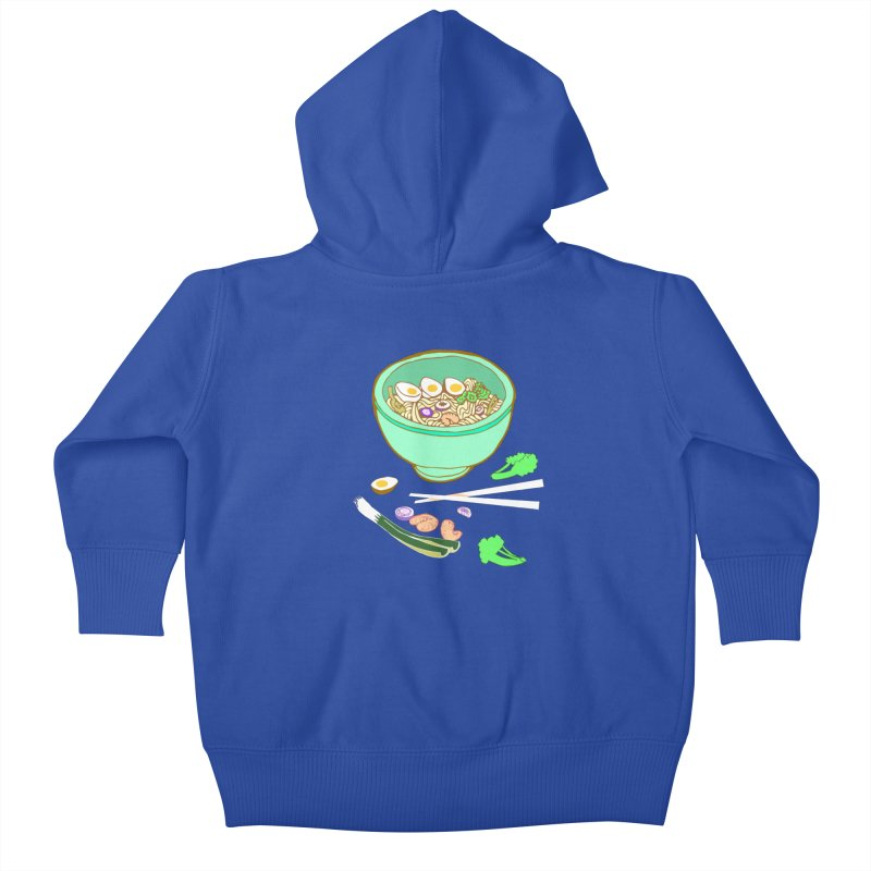 Bowl O' Noodle Kids Baby Zip-Up Hoody by napiform clip art