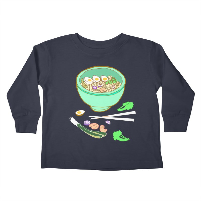 Bowl O' Noodle Kids Toddler Longsleeve T-Shirt by bad arithmetic