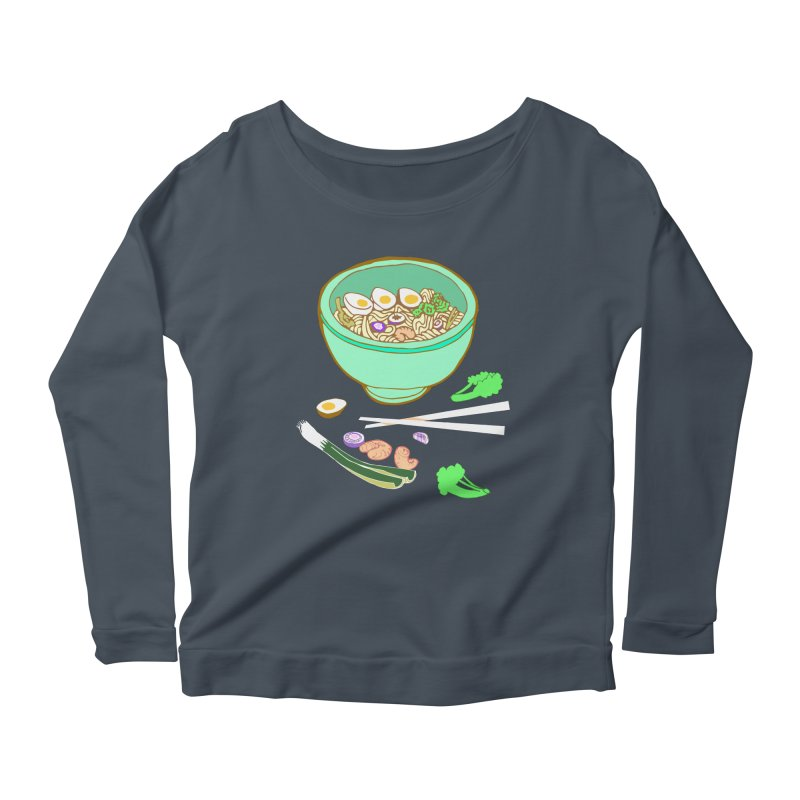 Bowl O' Noodle Women's Scoop Neck Longsleeve T-Shirt by bad arithmetic