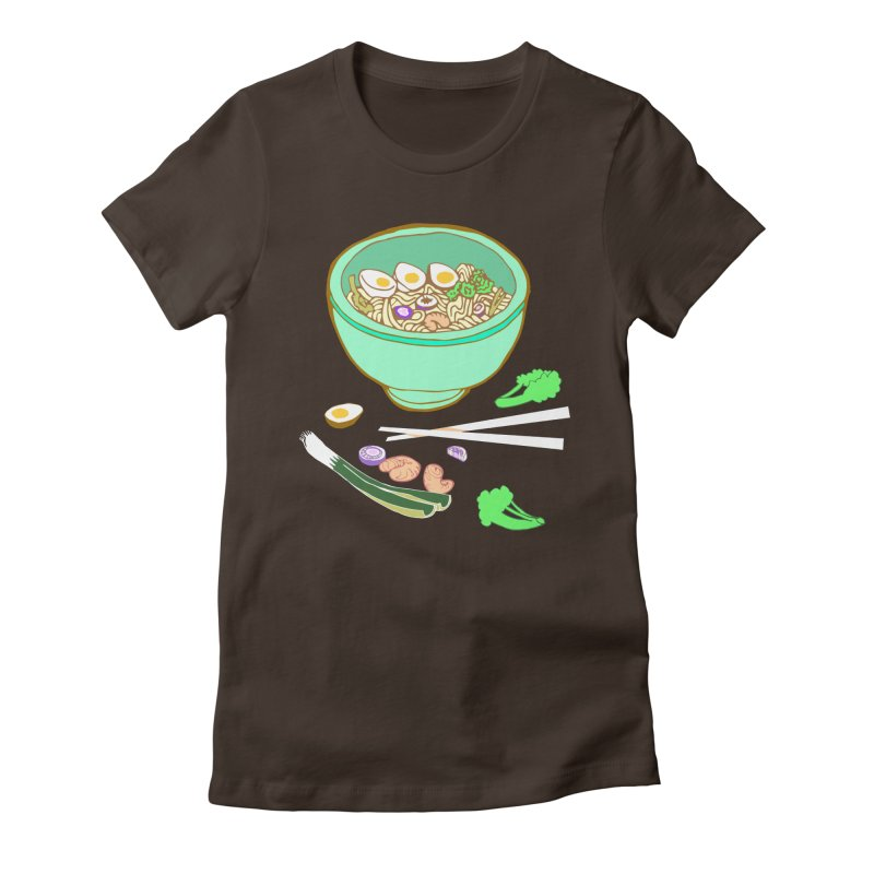Bowl O' Noodle Women's Fitted T-Shirt by bad arithmetic